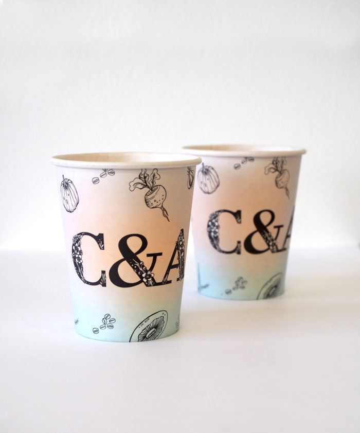 Cook & Archies coffee cup design