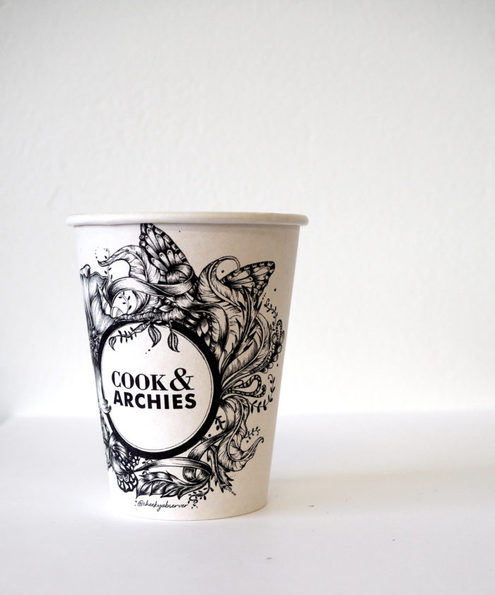 Cook & Archies illustrated cup