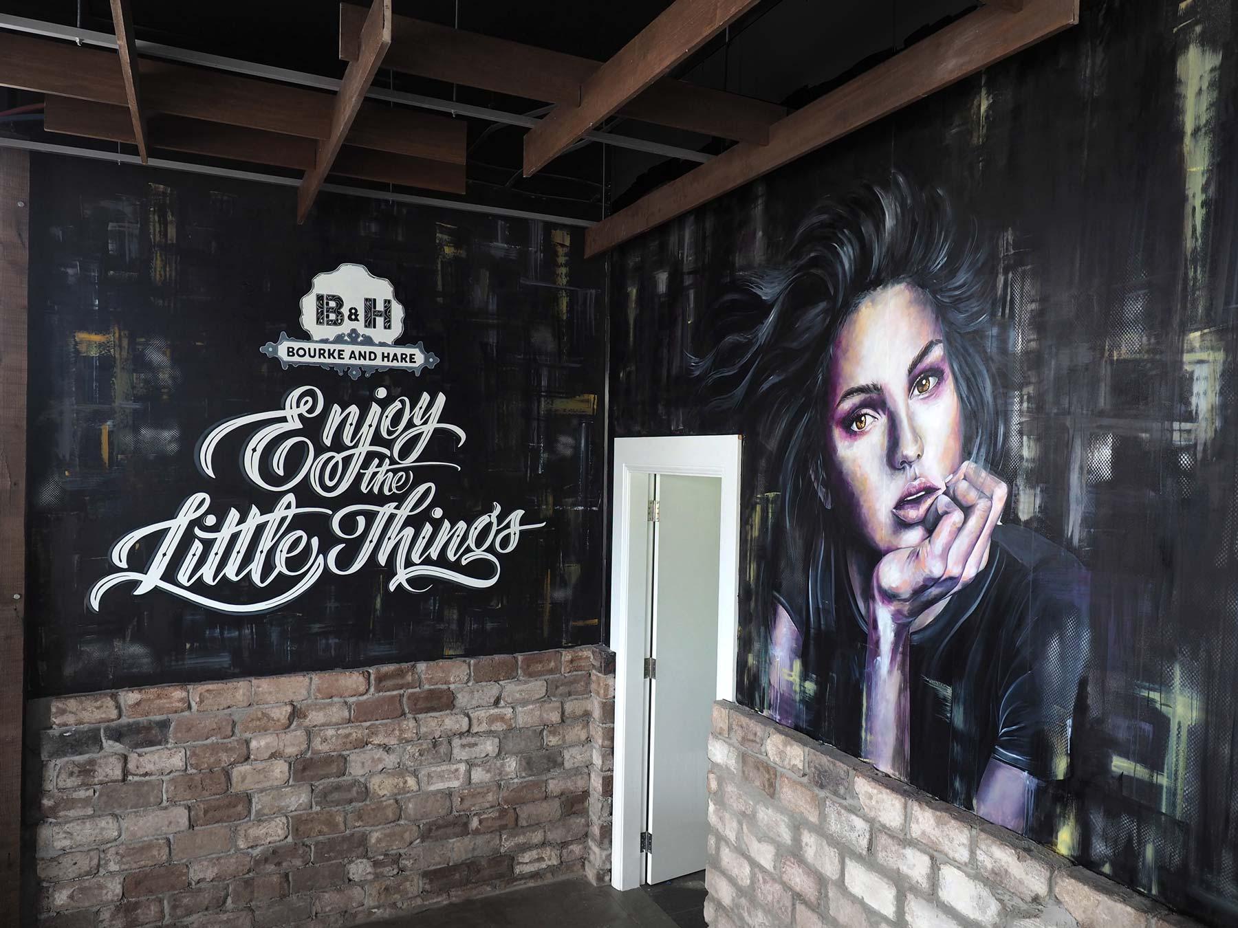 Bourke & Hare Cafe | Interior Murals | Sydney
