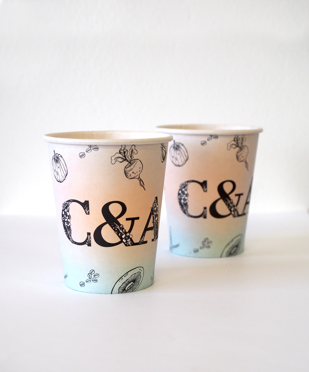 cook and archies coffee cups