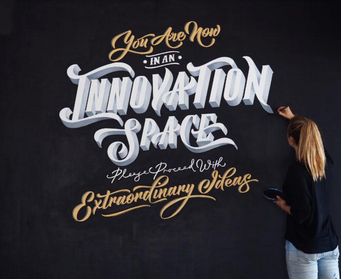 Typography Mural Alicia McFadzean