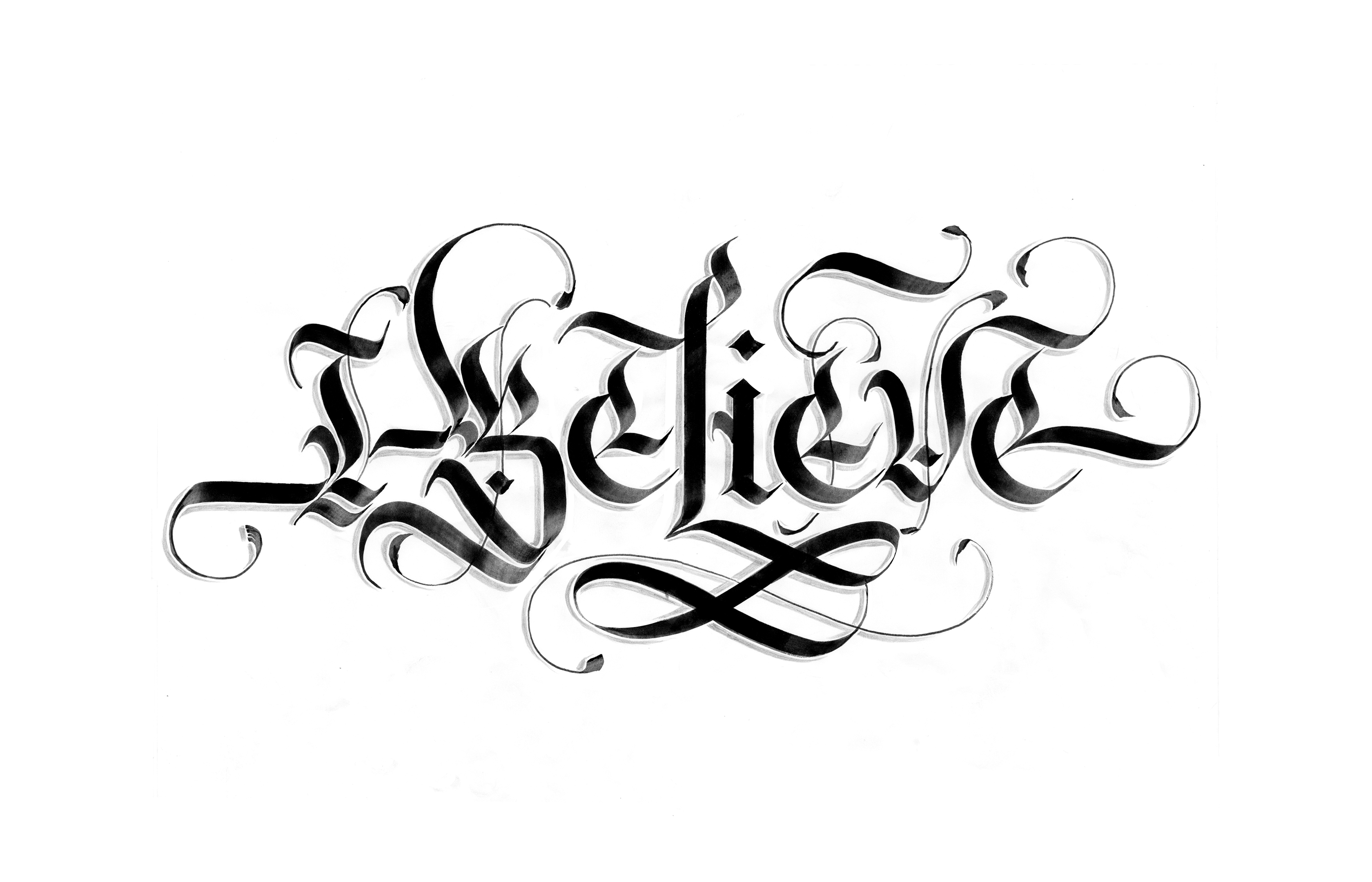 Calligraphy concept sketch