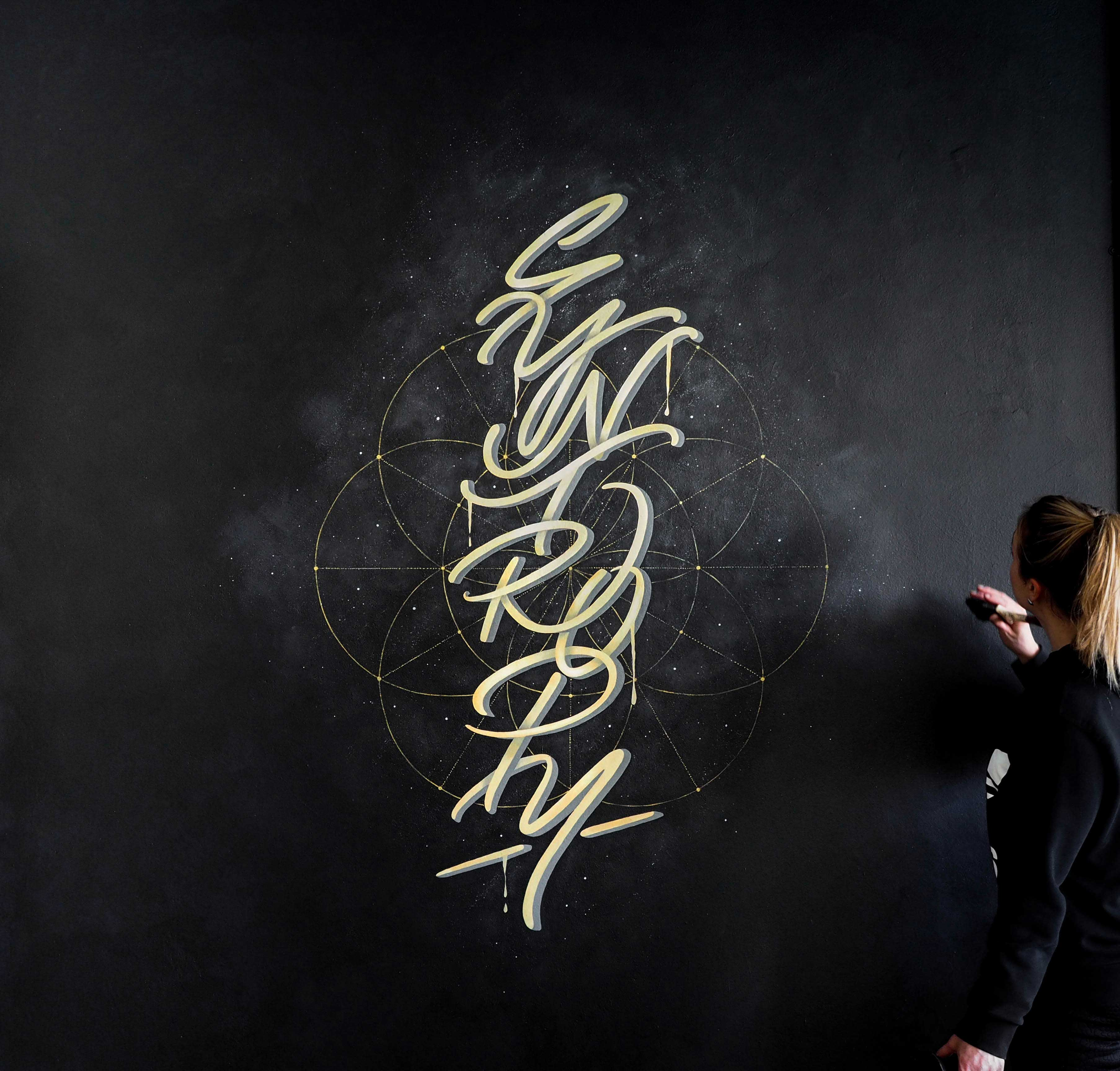 Syntropy Typographic Mural