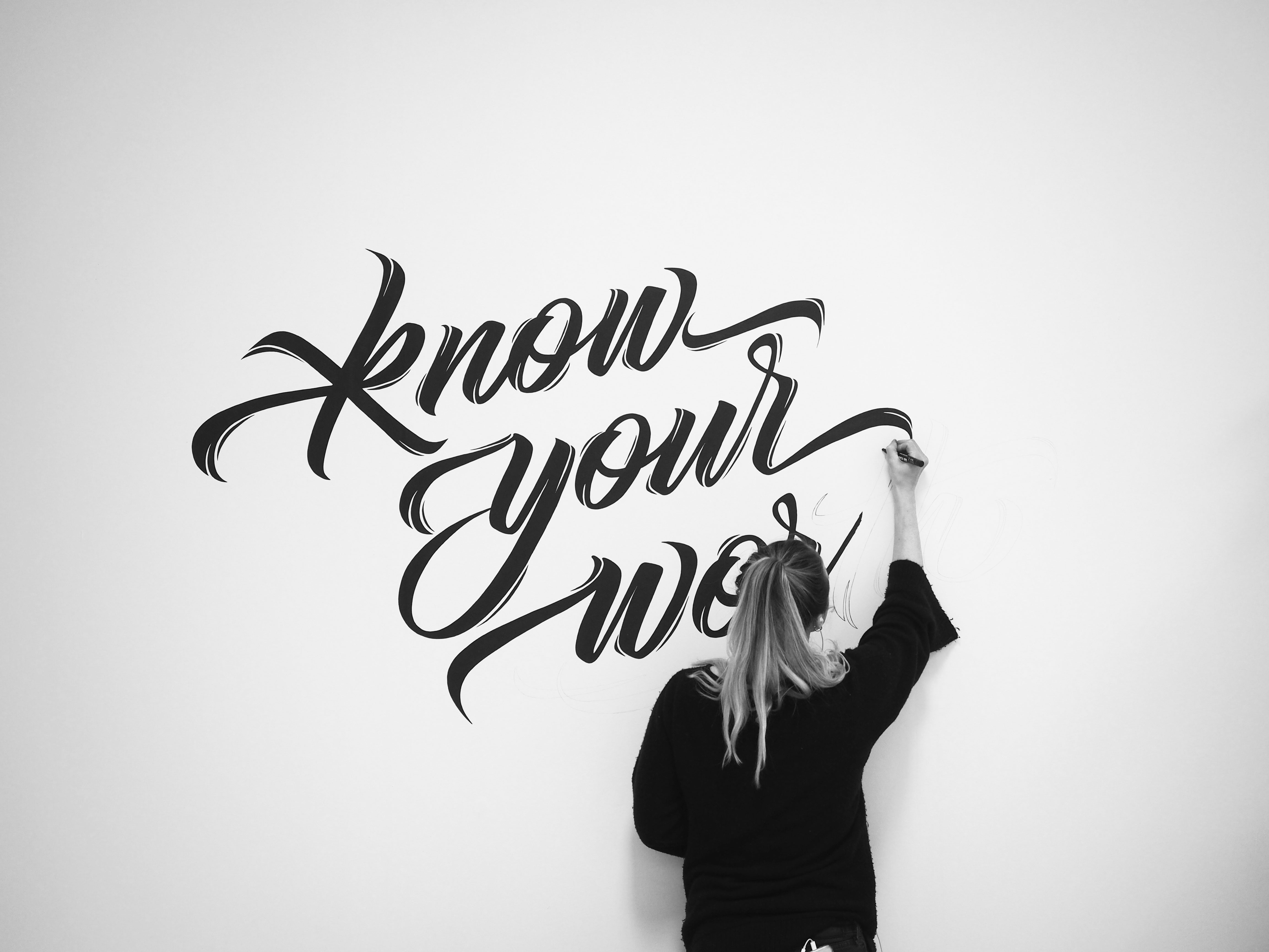 Know Your Worth | Lettering Mural