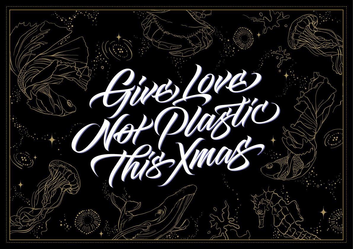 Give Love Not Plastic Script Poster