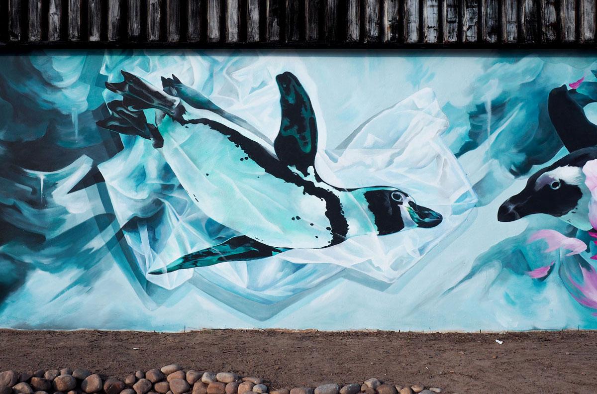 Penguin Mural Cape Town