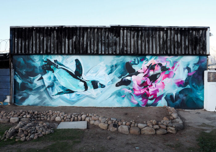 Penguin Mural in Hout Bay by Cheeky Observer