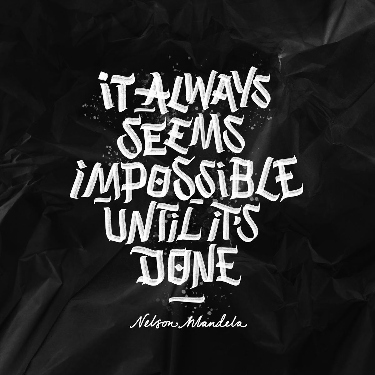 Nelson Mandela Quote | Brush Lettering
